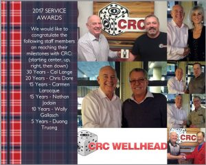 Service Awards for CRC Welhead