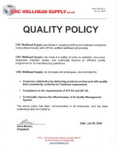 CRC's Quality Policy